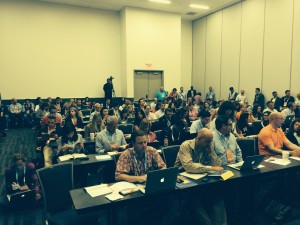A standing-room-only crowd hear my talk, How to Speed the Journey from Content to Cash.