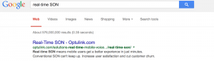"The new Optulink website also captured Google's top rank for ""real-time SON."""