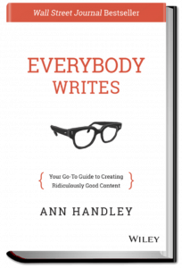 The book is full of ideas to help you write better content marketing.