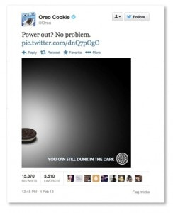 Oreo Super Bowl Tweet