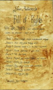 Audience's Bill of Rights