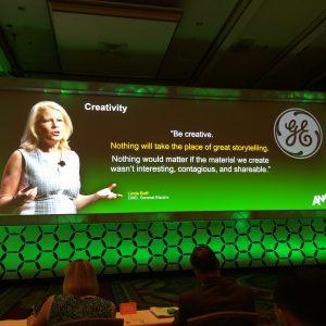 GE CMO Linda Boff on storytelling
