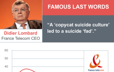 CEO's famous last words at France Telecom