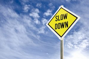 slow content marketing - slow down