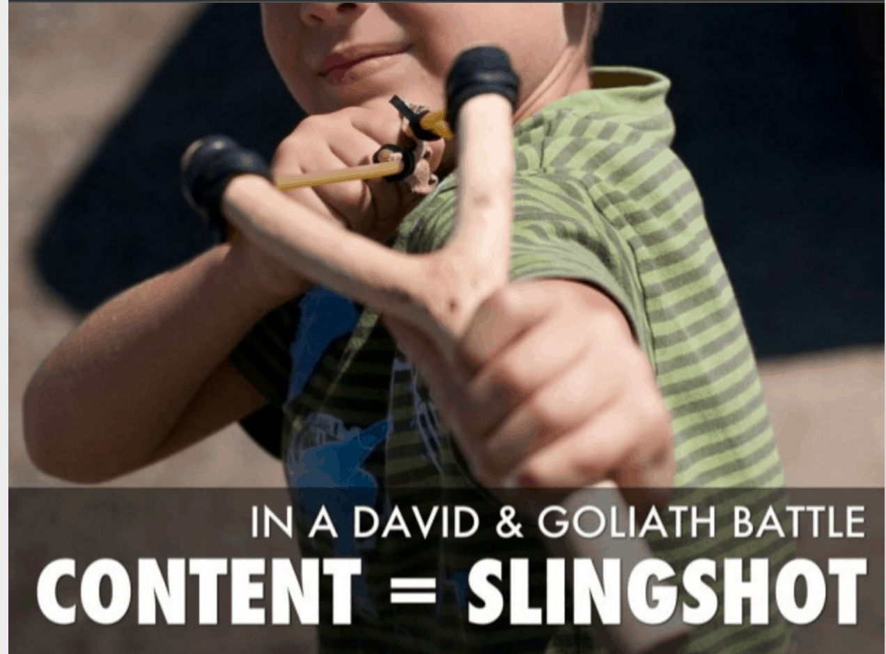 David and Goliath content marketing - How can teams with limited resources better address content needs?