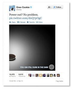 Oreo newsjacking Tweet