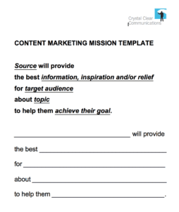 Content Mission Template - How do we align content with channels? - 4 Ideas to Maximise Impact