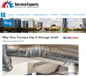 Smells from Furnace