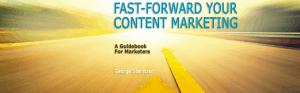 Free E-book: <em>Fast-Forward Your Content Marketing</em>