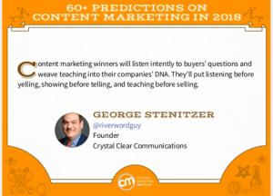 2018 Content Marketing Prediction