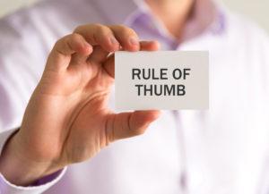 10 budget rules of thumb