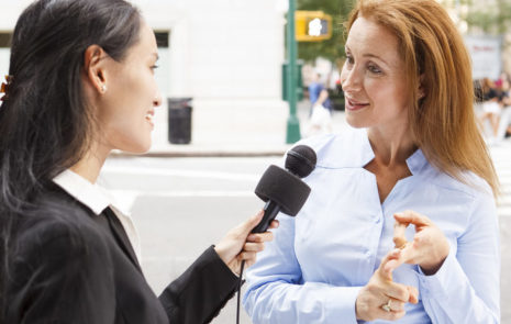Get to the gist of your message quickly in a news media interview