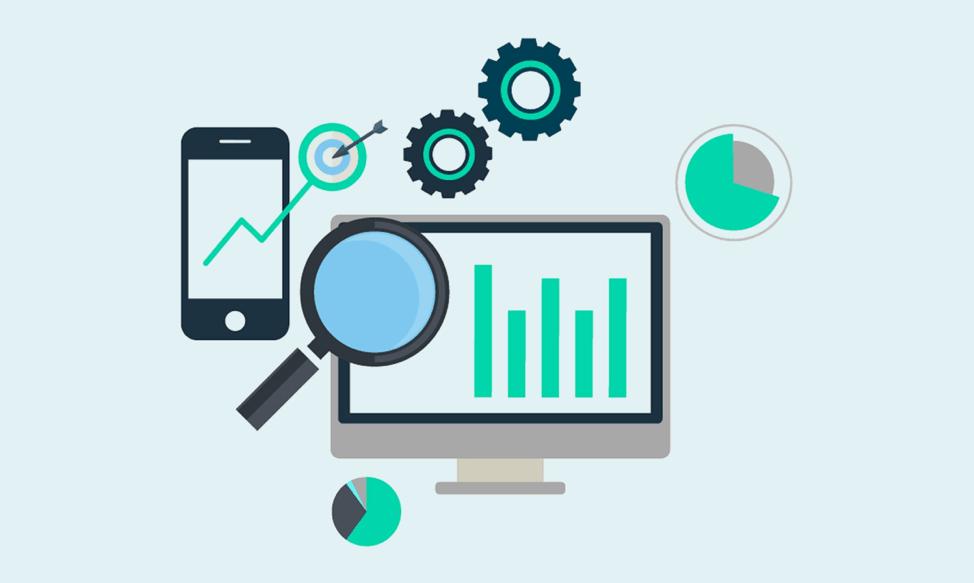 Drawing showing marketing metrics dashboard