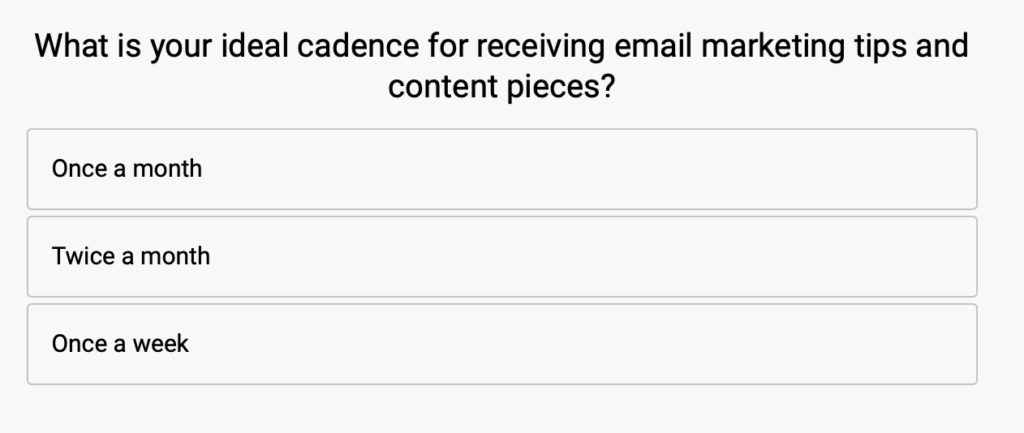 Emma frequency survey