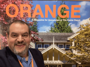 Home Depot magazine Orange with selfie on cover