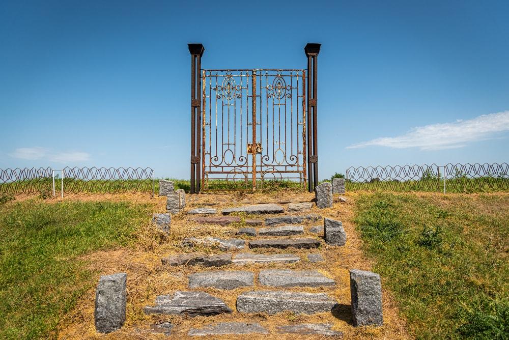 Locked gates symbolizing pitch deck purgatory