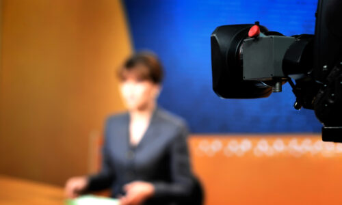 Out of focus female news anchor - Should I even bother to try to get media coverage?