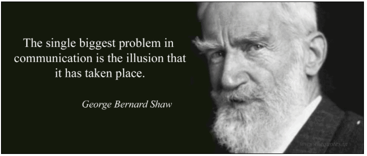 How to best engage people in content marketing from the start? George Bernard Shaw quote